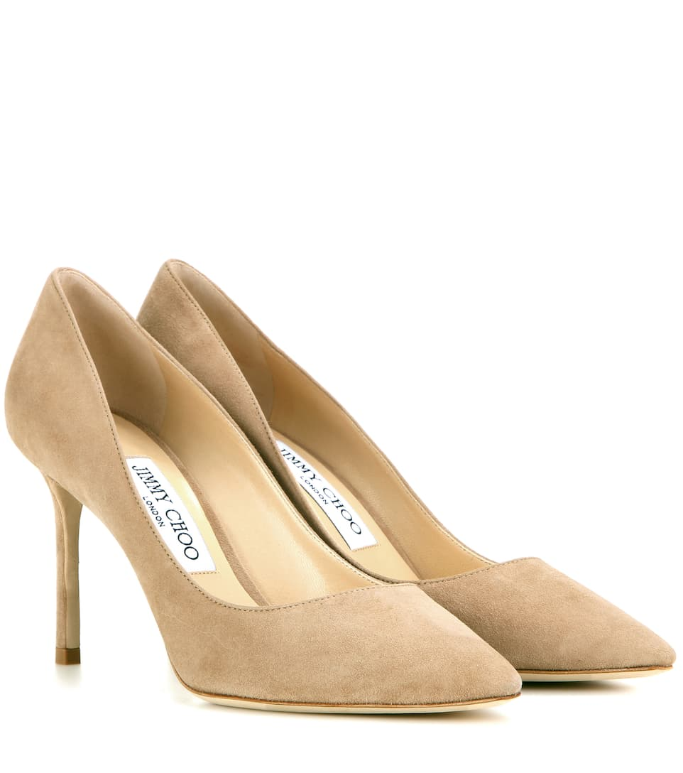 Jimmy Choo Pumps Romy 85 aus Veloursleder