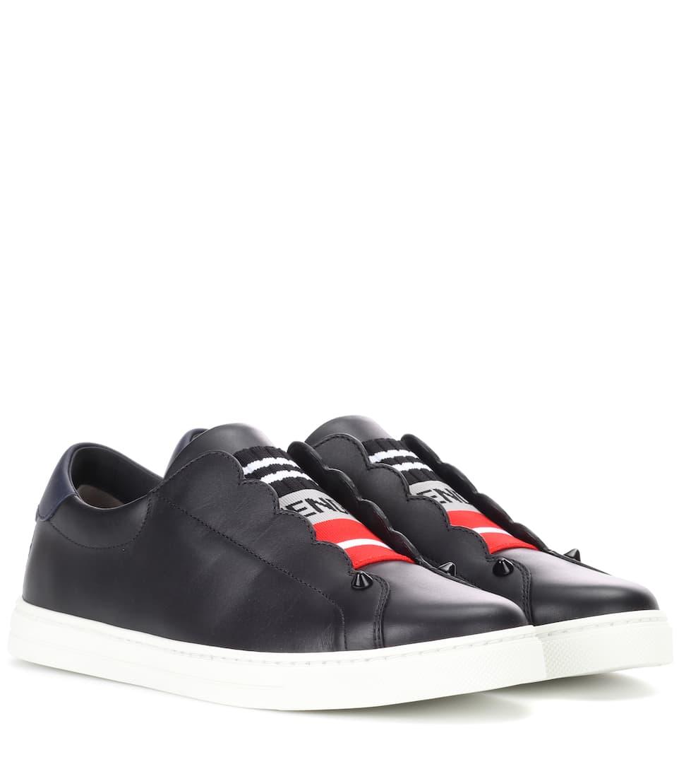 Leather sneakers Fendi ZHdT73zko