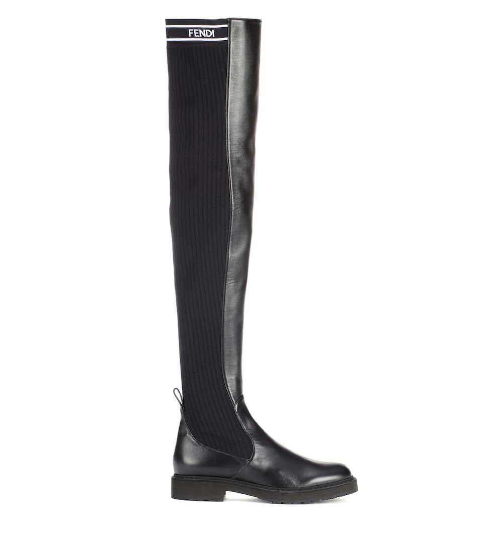 Fendi Overknee-Stiefel aus Leder