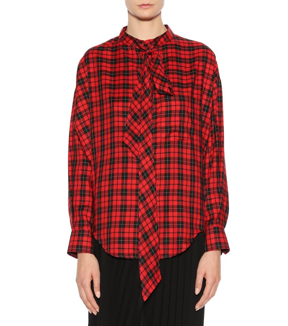 Balenciaga Oversize Bluse aus einem Baumwollgemisch