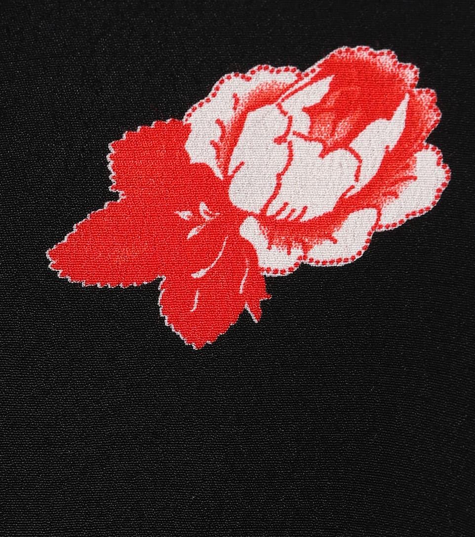 Ganni Crêpe-Kleid Harley mit Blumenprint