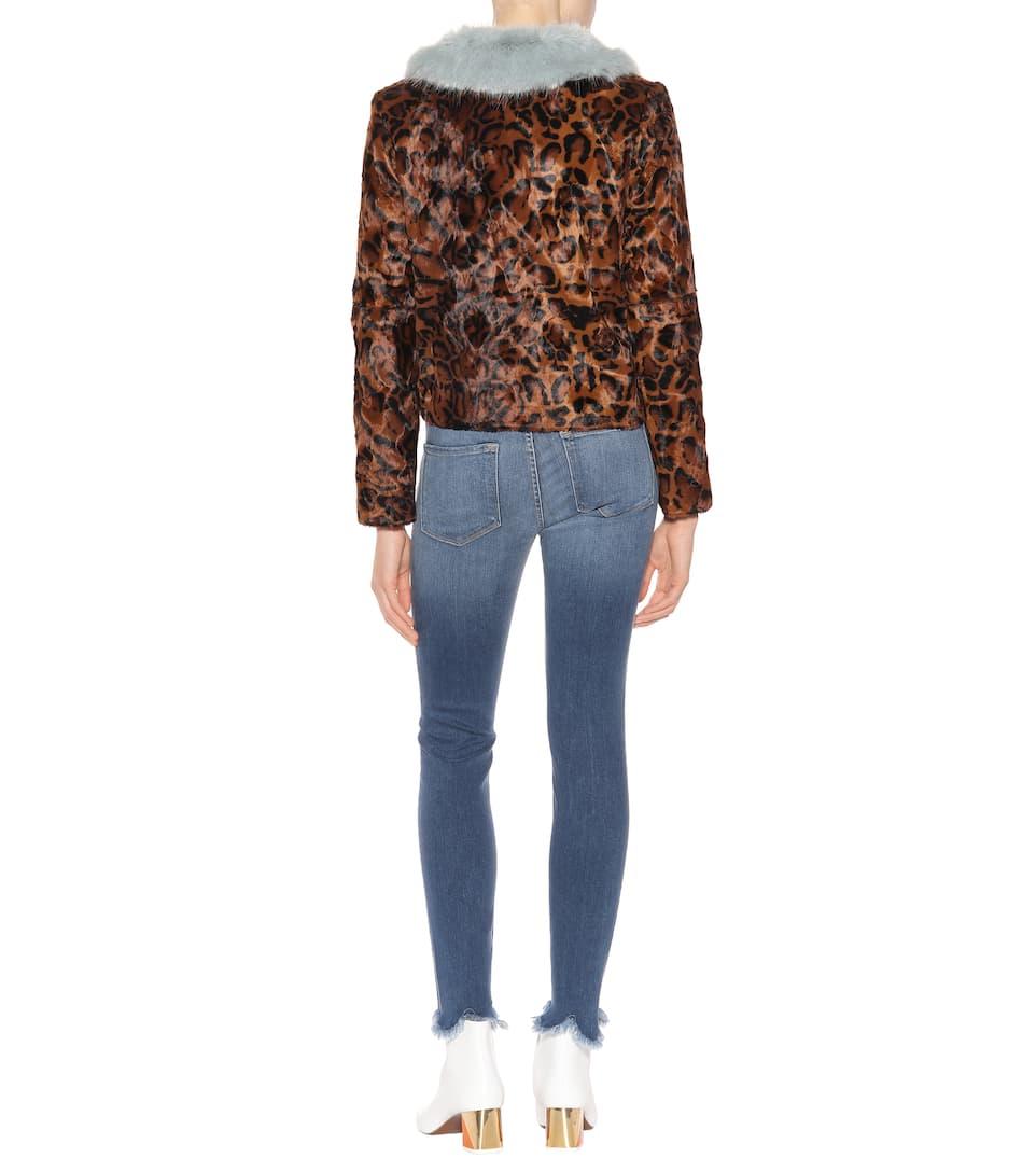 de Leopard con chaqueta Mix estampado leopardo Mint Betsy Camarones 80IqHE