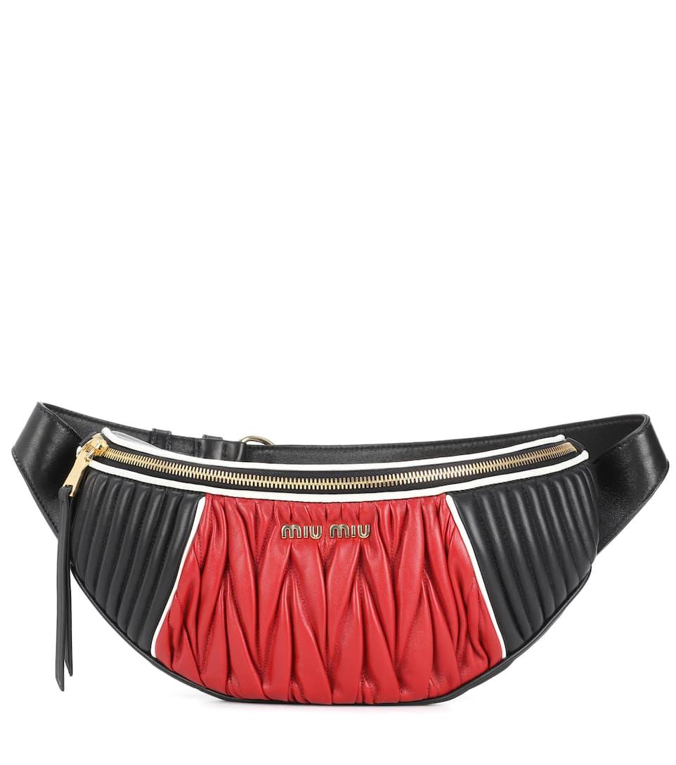 Ruched leather belt bag Miu Miu zaz4THyg
