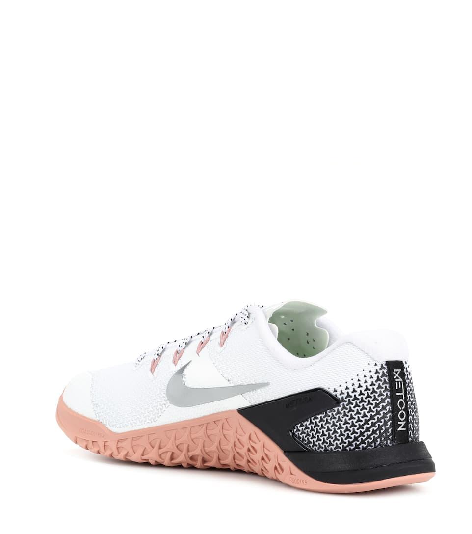 Zapatillas Rosa Plateado Negro Blanco Metcon 4 Nike zxqrYz