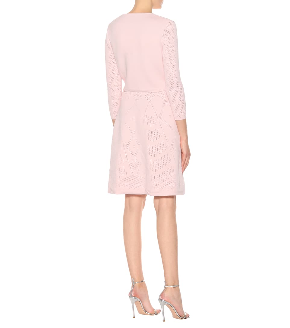 Real Cheap Price Low Shipping Sale Online Carolina Herrera Cropped knitted cardigan Lotus Pink Free Shipping Outlet Cheap Quality Teyf0B6K