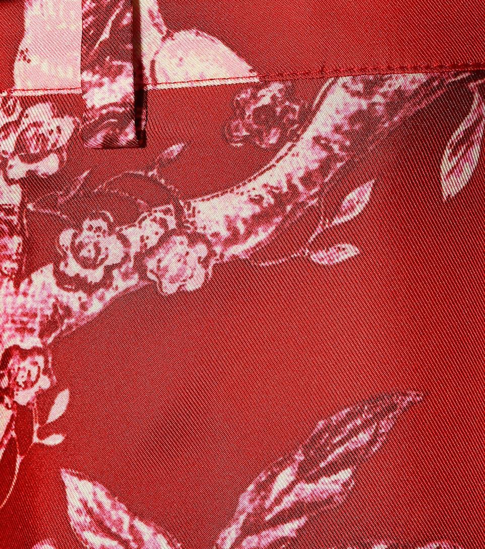 57215268f F.R.S For Restless Sleepers - Tartaro printed silk pajama pants ...