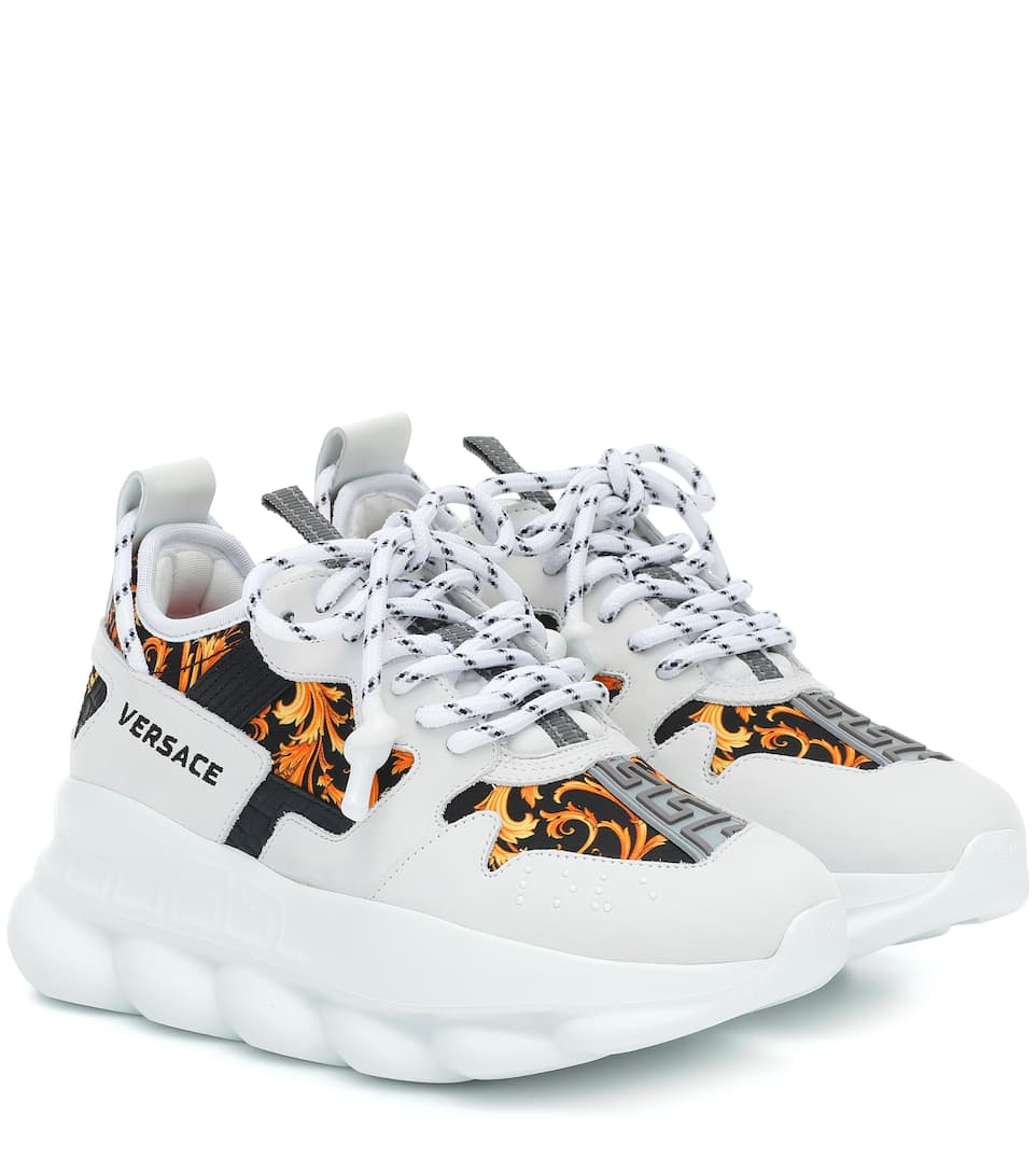 Chain Reaction 2 Printed Sneakers | Versace - Mytheresa