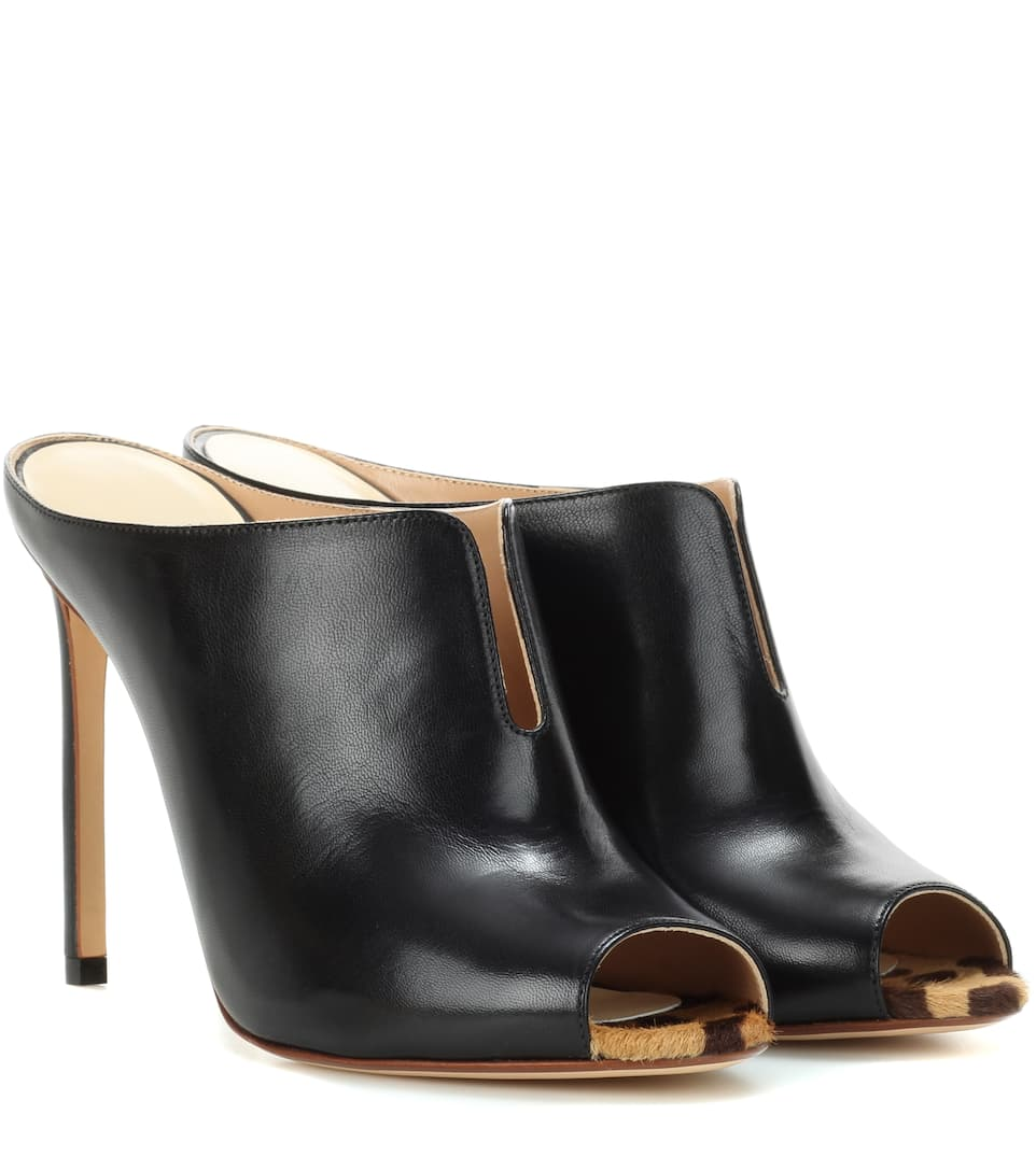 Francesco Russo Leather mules hjGAB5W