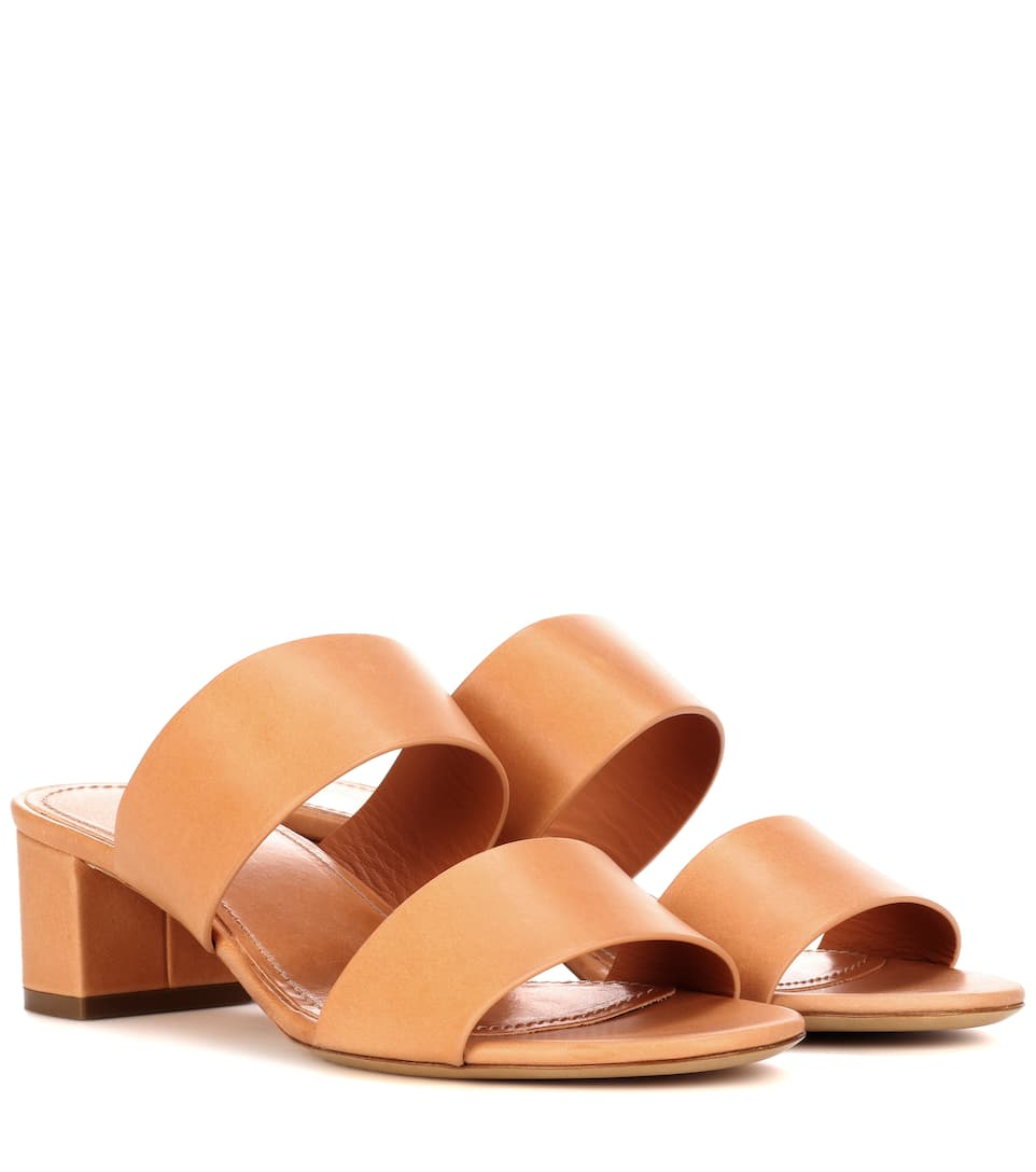 Mansur Gavriel 40mm Double Strap leather sandals HKlq2r
