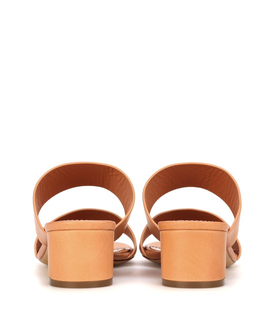 Mansur Gavriel Sandalen Double Strap aus Leder