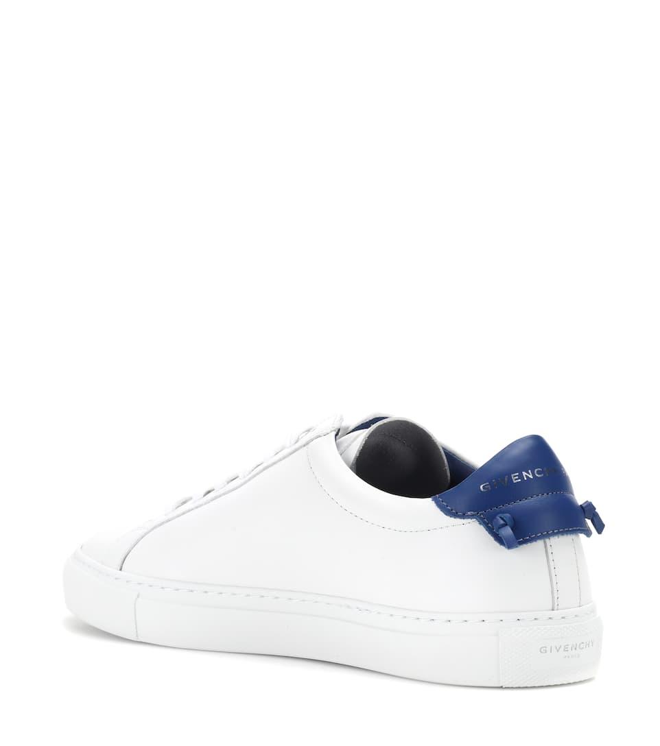 blanco Givenchy Urban nudos piel de Zapatillas azul x47wqTgPwX