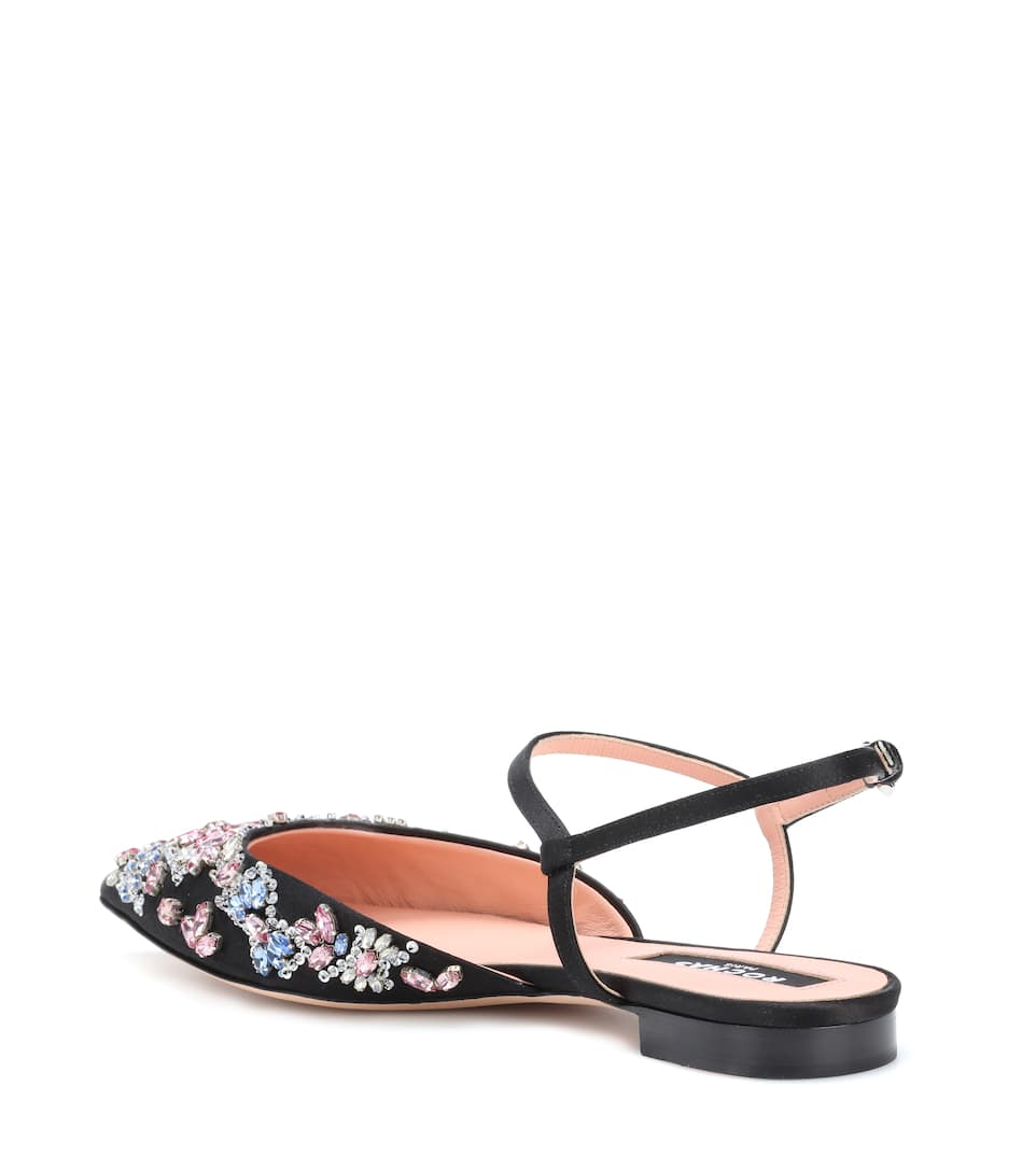 Rochas Satin ballerinas Discount Pictures Clearance Footaction Discount Online Cheap Sale Cheapest Price NjYdZx52