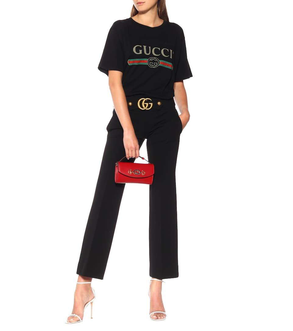 Gucci Bedrucktes T-Shirt aus Baumwoll-Jersey Bester Platz Echte Online Günstig Kaufen Manchester Großen Verkauf oAIFFM