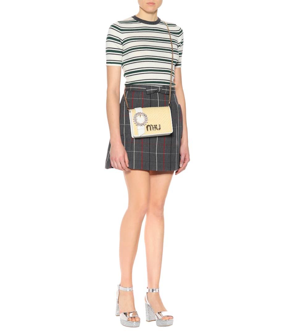 Miu Miu Striped Wool Rippstrickpullover