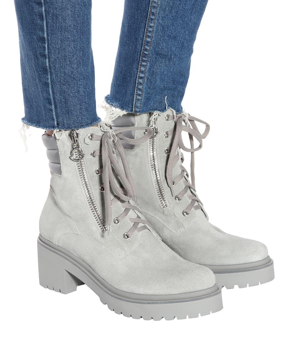 Moncler Ankle Boots Viviane aus Veloursleder