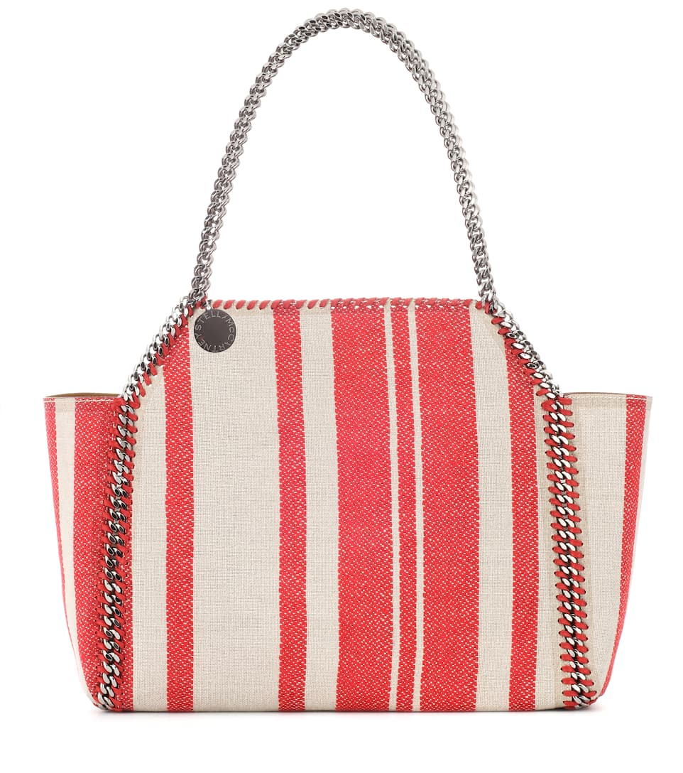 FALABELLA STRIPED REVERSIBLE TOTE