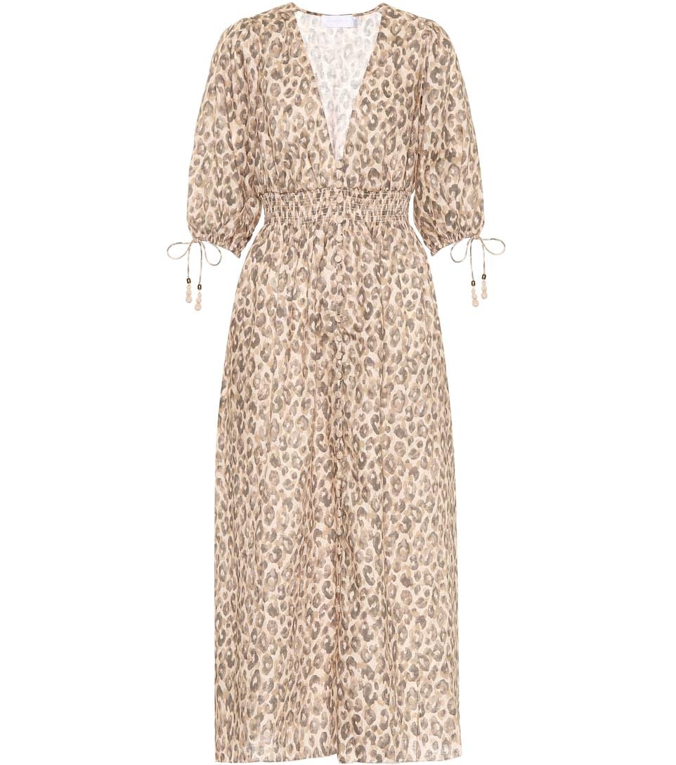 cf0380f11459 Melody Linen Dress - Zimmermann | mytheresa.com
