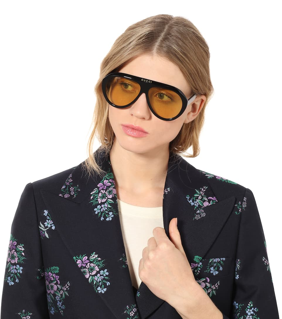 7557b3e339333 Oversize-Sonnenbrille Navigator - Gucci