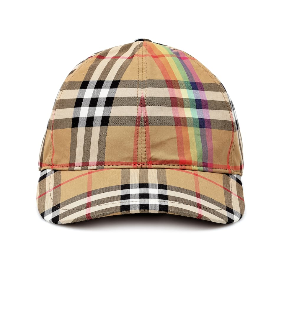 3cdd5d20e26 Rainbow Check Cotton Cap - Burberry