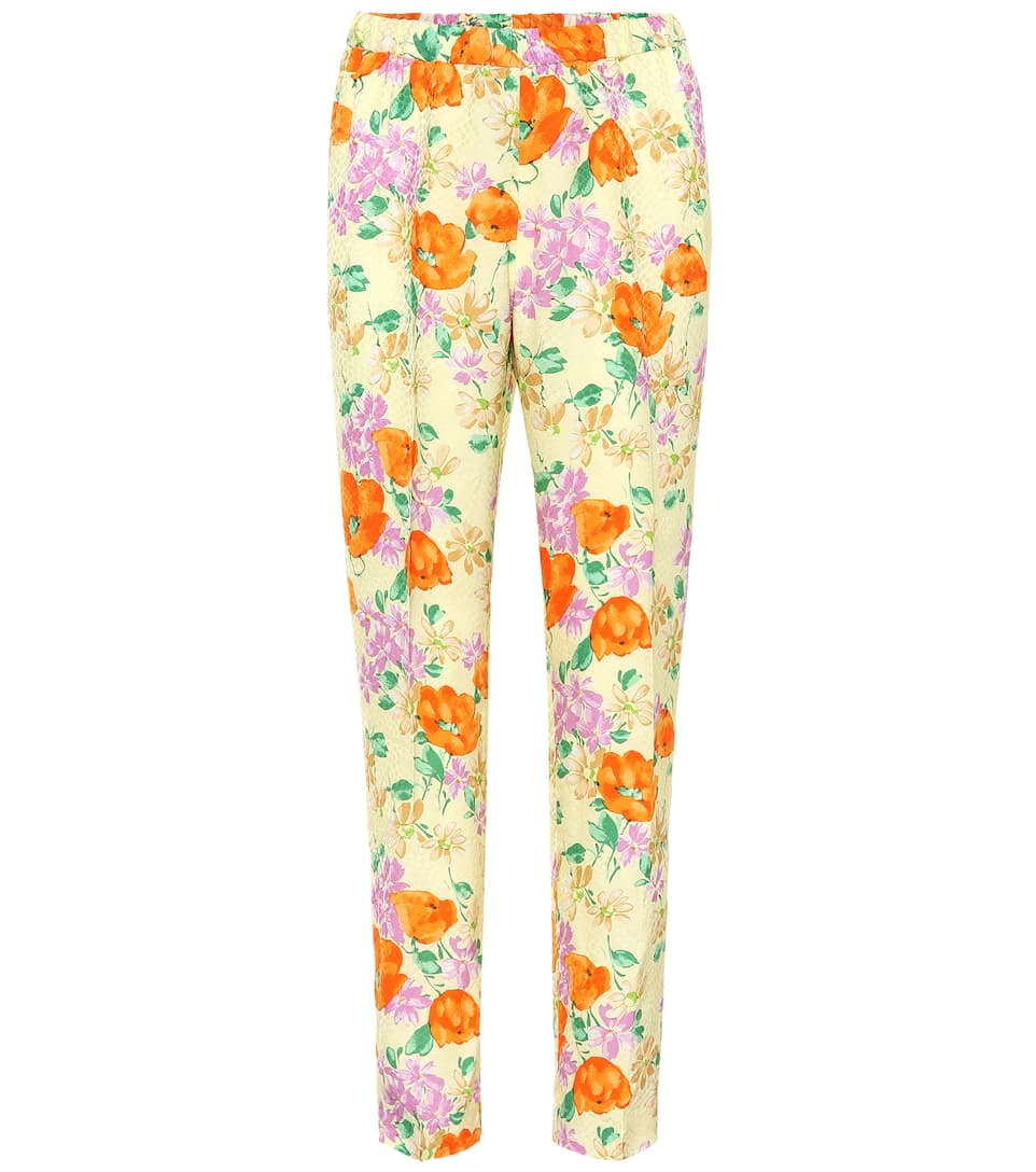 29569607fd Dries Van Noten - Floral jacquard pants