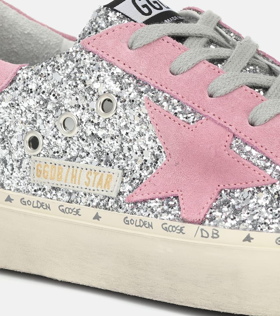 Sneakers Hi Star In Suede E Glitter