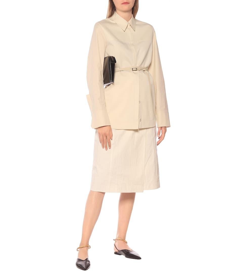 Jil Sander - Cotton-and-silk poplin shirt