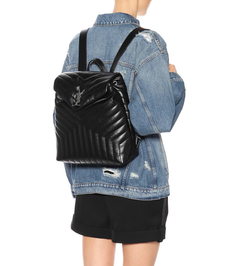 df2777fb8d Loulou Medium Monogram Leather Backpack - Saint Laurent