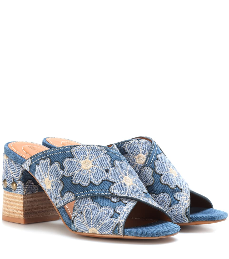 Clearance Sast See By Chloé Denim sandals Denim Blue Cheapest Price Cheap Online 0PvWnh0S