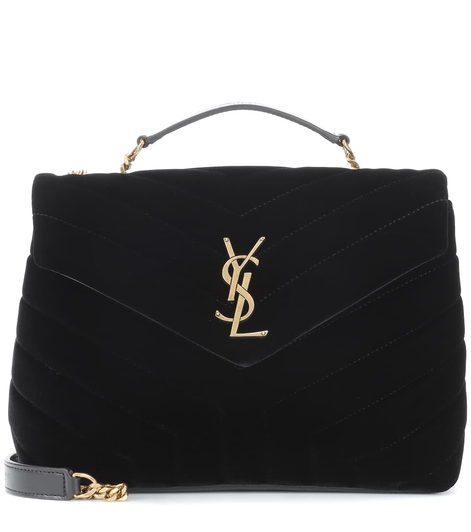 ffffd91dad Loulou Monogram Small Velvet Shoulder Bag - Saint Laurent