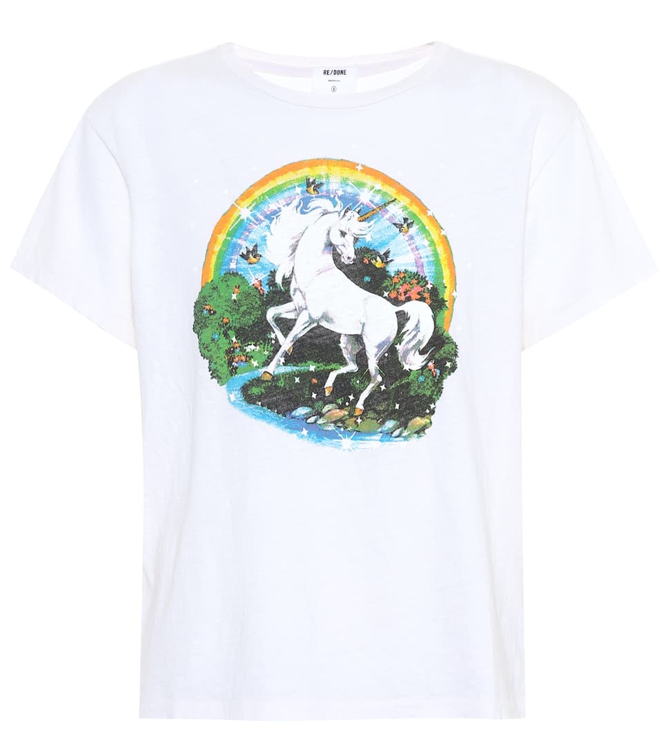 Re/Done T-Shirt The Classic Unicorn aus Baumwolle