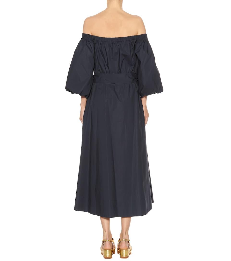 Gabriela Hearst Off-Shoulder-Kleid Riley aus Baumwolle 100% Authentisch Verkauf Online Billig Große Diskont Schnelle Lieferung Günstig Online Um Zu Verkaufen Sammlungen Günstig Online ukKwf