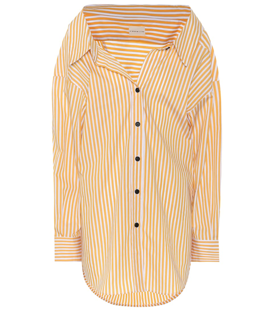 TABOR OVERSIZED STRIPED COTTON-POPLIN SHIRT