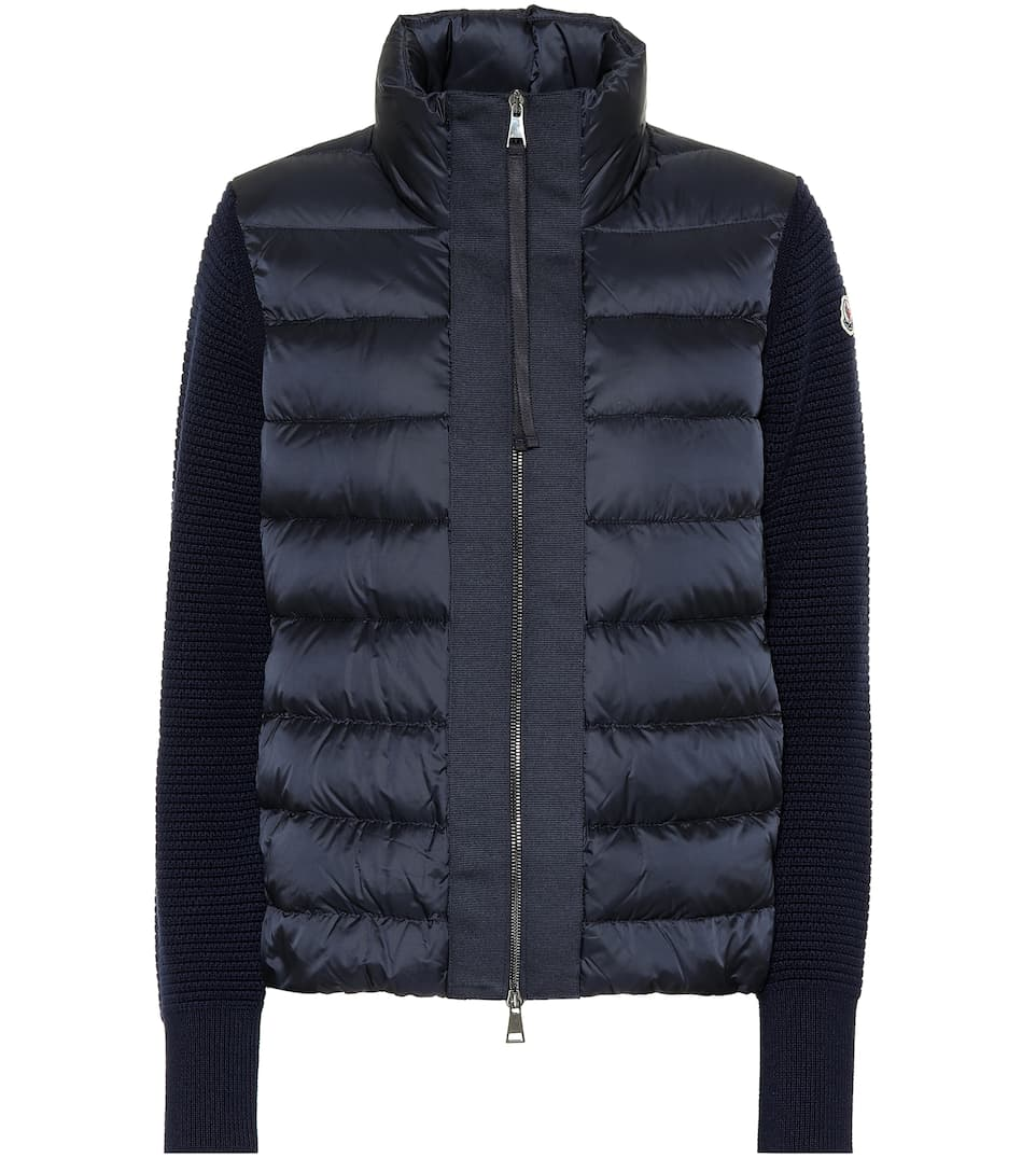 Maglione Quilted Down Jacket in Blue