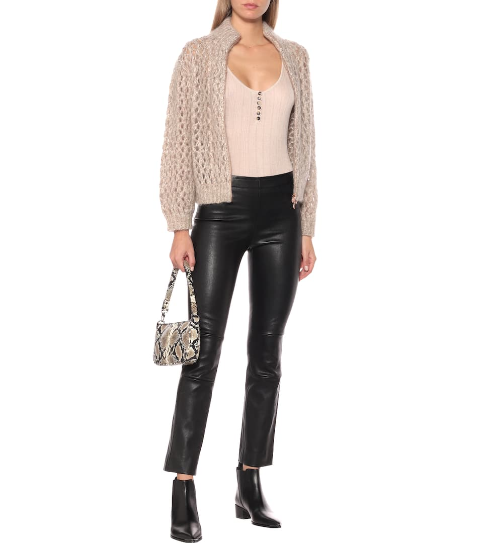Maria Rosa High-Rise Leather Pants - Stouls