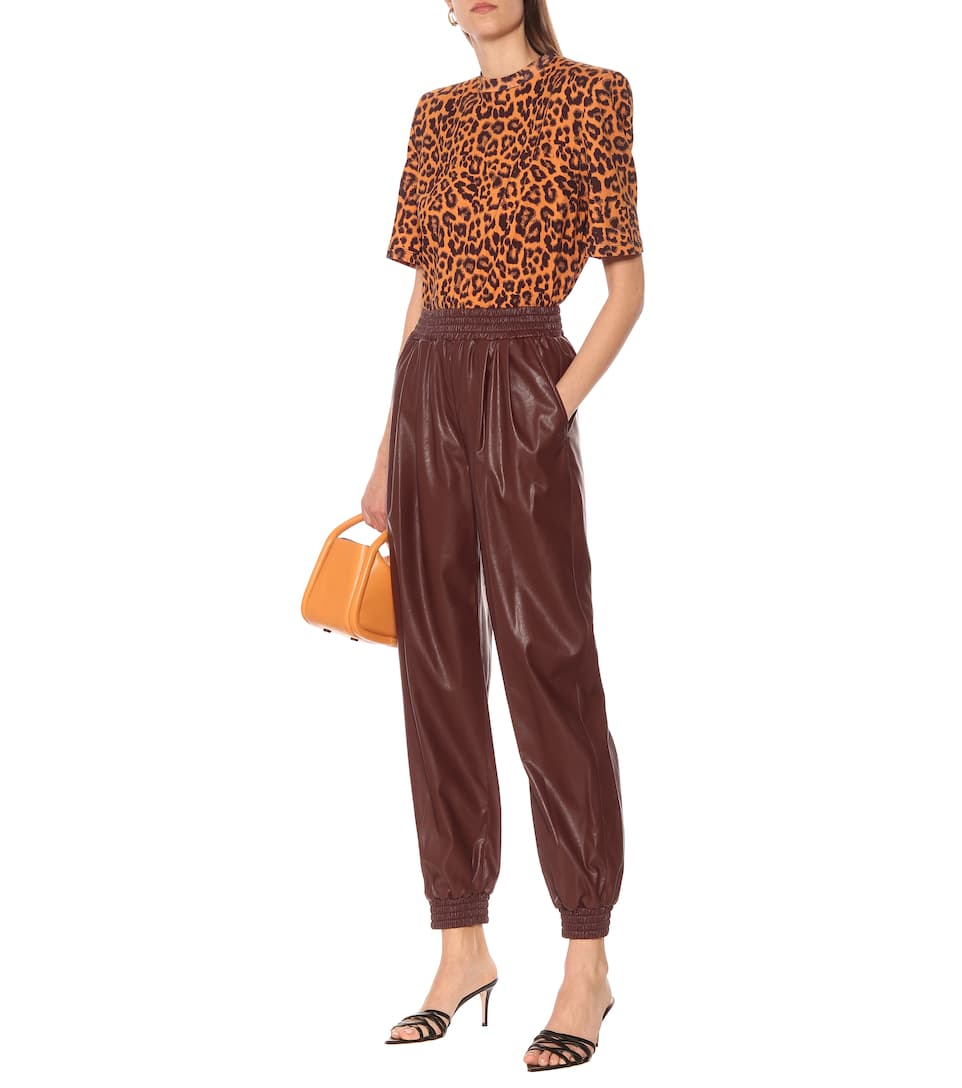 MSGM - Faux leather trackpants