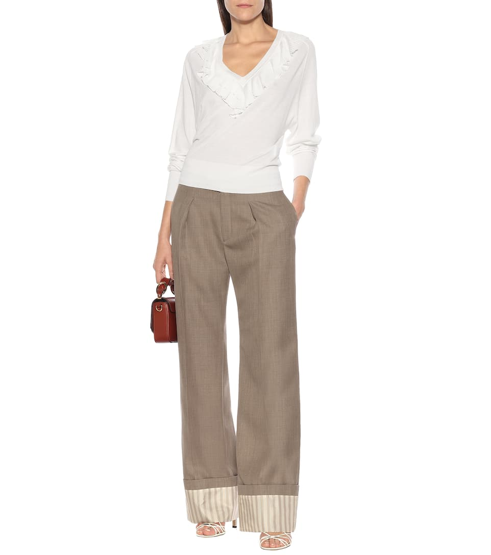 Chloé - Virgin wool wide-leg pants