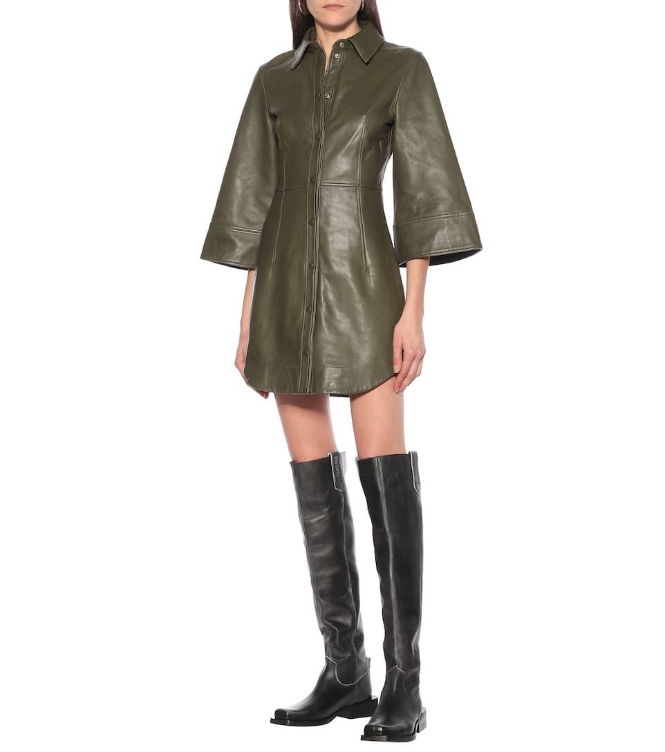 Leather Minidress | Ganni - Big Discount