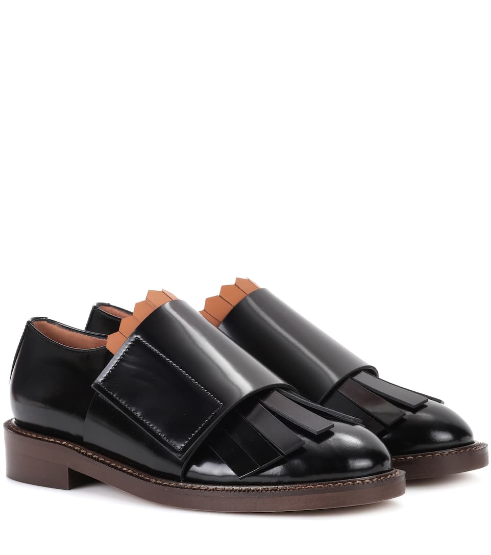 Glossed-leather Oxford shoes Marni llehN2