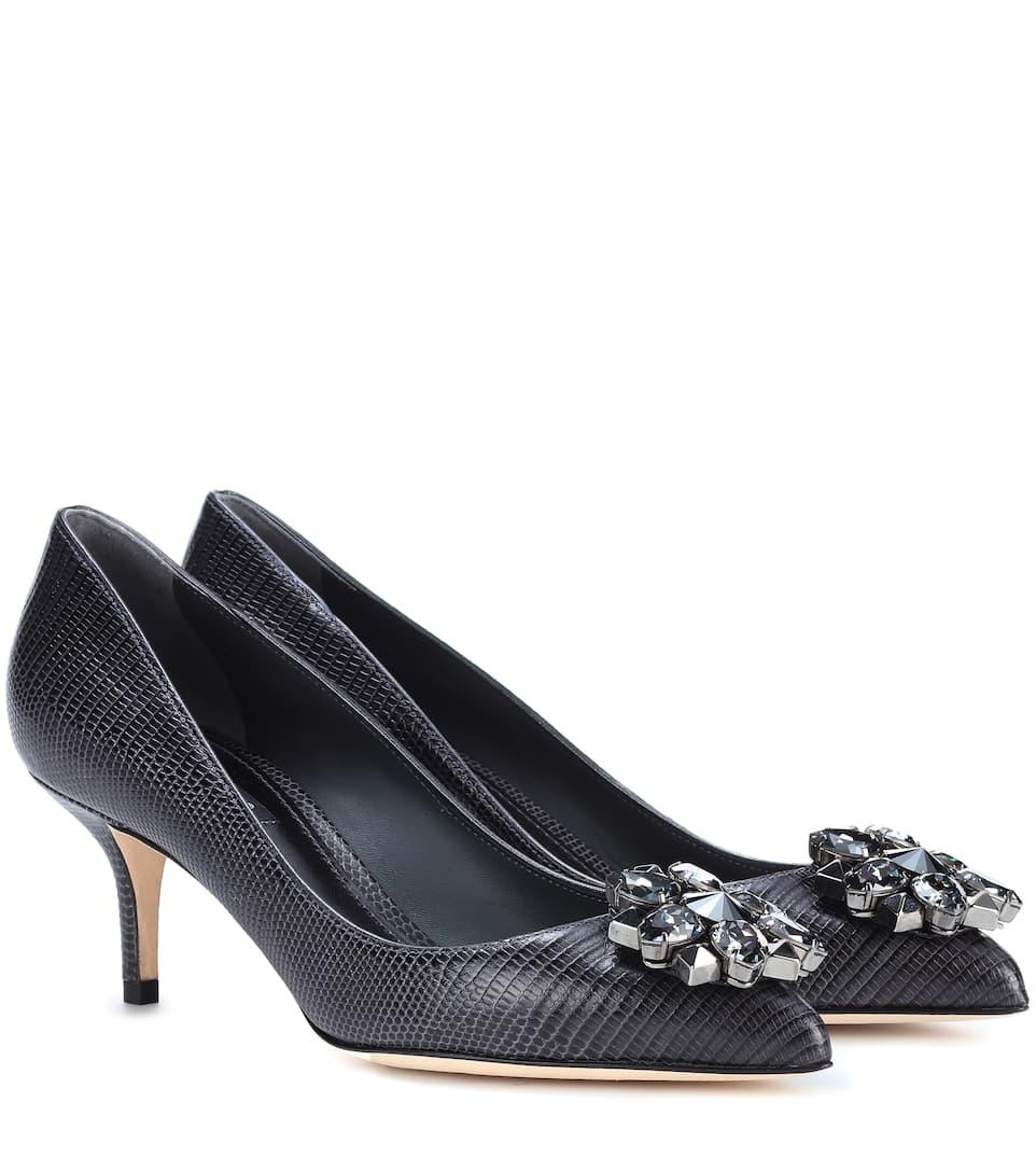 Dolce & Gabbana Verzierte Pumps Bellucci aus geprägtem Leder Wählen Sie Einen Besten Günstigen Preis Günstige Spielraum Store Günstig Kaufen Klassisch SF1A9