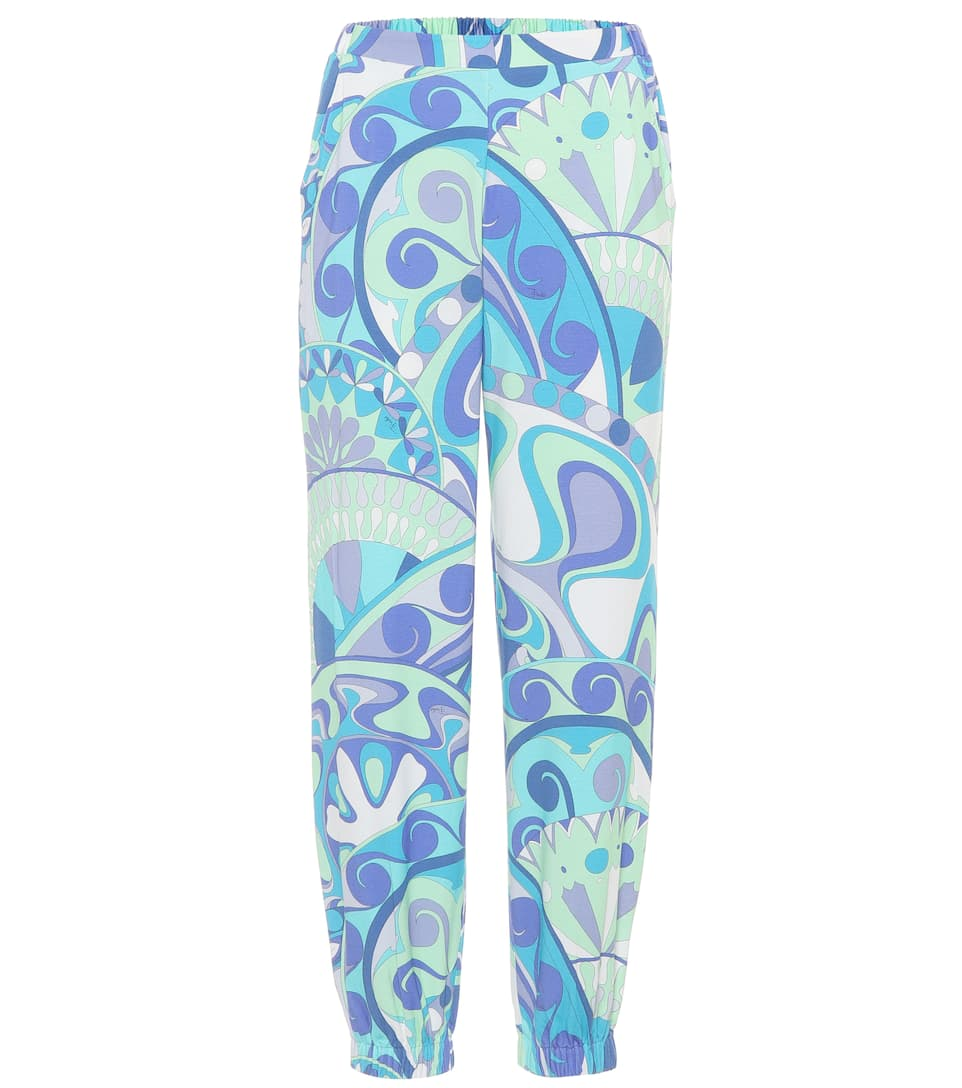 PRINTED JERSEY TRACKPANTS