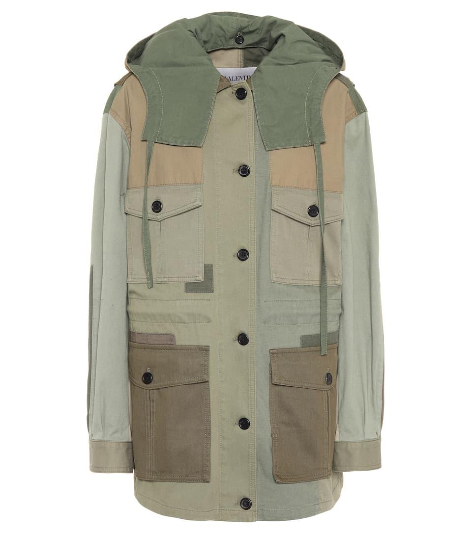 lona militar de de verde chaqueta Valentino algodón wq8FUSqx