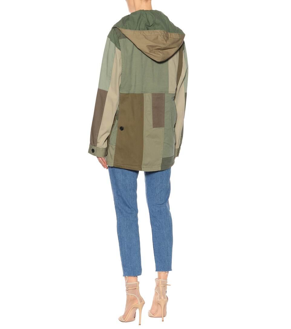 de de militar chaqueta verde lona algodón Valentino HqP8wOTf