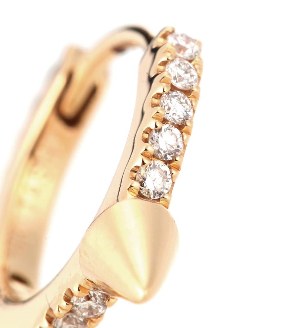Maria Tash Triple Long Spike Eternity Ring 14kt gold and diamond earring UHDwWP