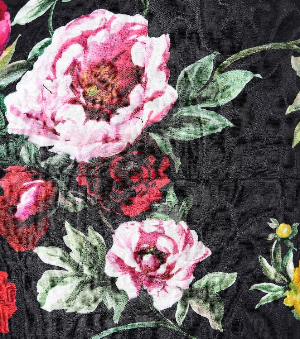 Dolce & Gabbana Bedruckter Minirock aus Brokat