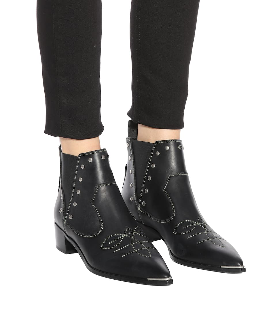 Acne Jexy studded leather ankle boots Sale Sneakernews Cheap Sale Best Place Cost New Arrival Wiki Cheap Online V3sn4