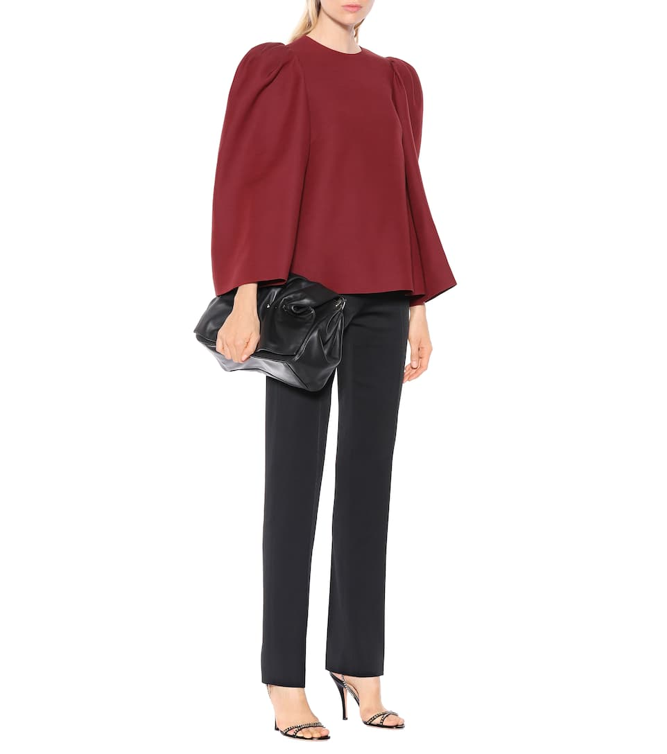 VALENTINO Clothing SILK AND WOOL-BLEND TOP