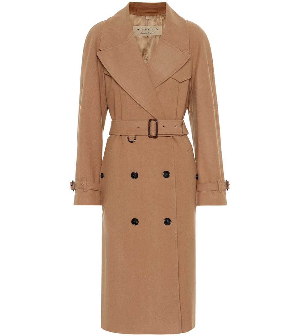 abae9e82 Burberry - Herringbone wool-blend trench coat | Mytheresa