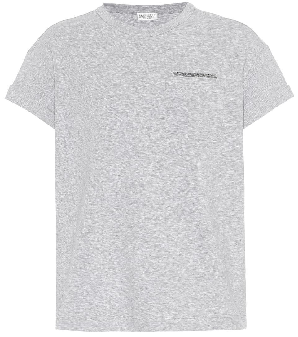 À shirt Stretch Ornements Brunello T En Cucinelli Coton D29HWEI