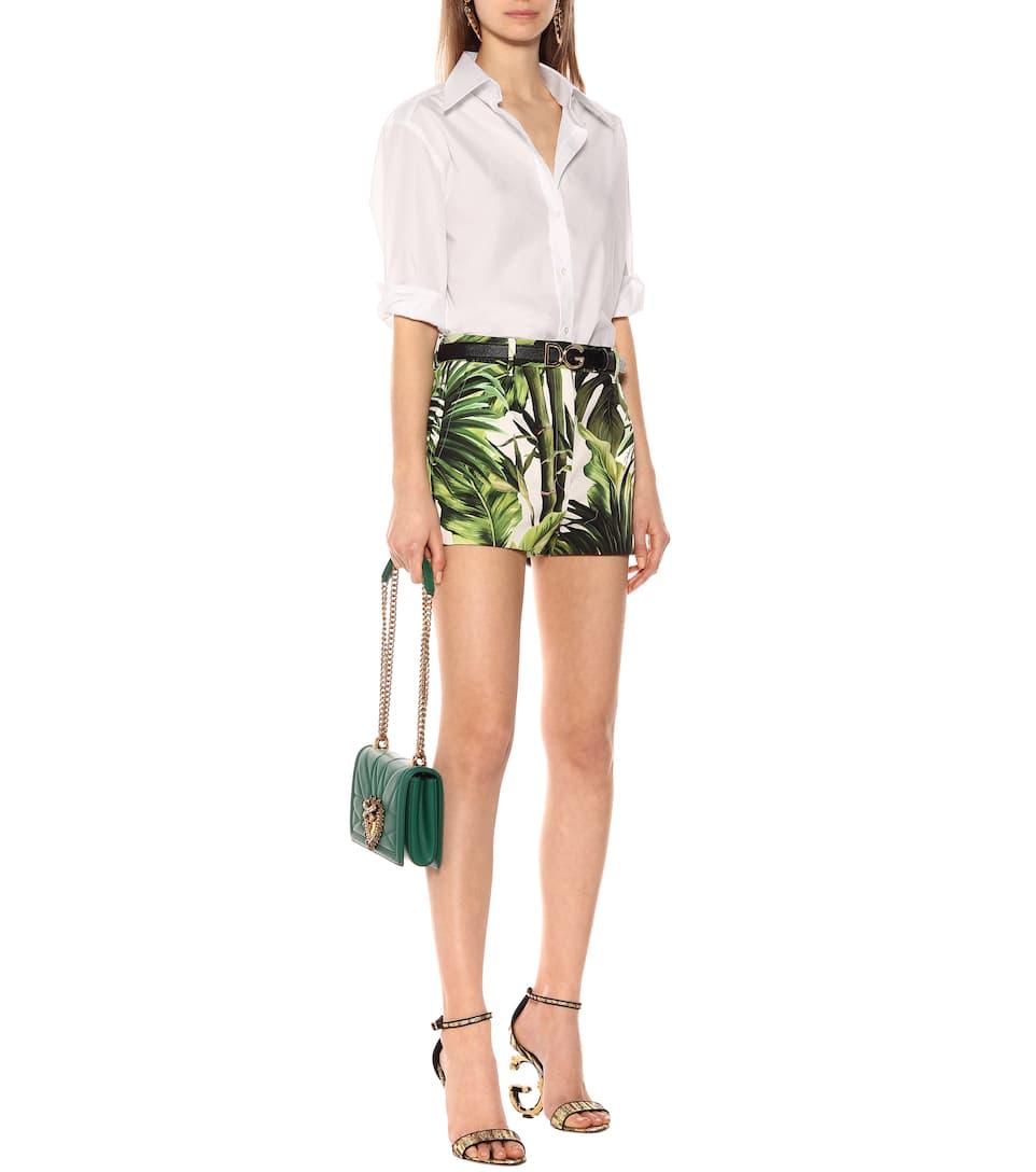Printed Stretch-Cotton Shorts - Dolce & Gabbana