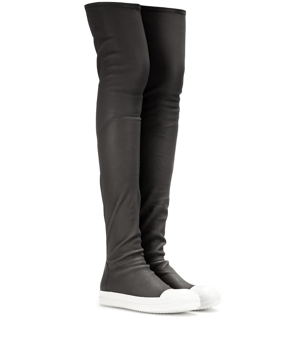 Rick Owens Overknee-Boots High Sock aus Leder